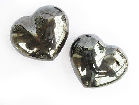 Hematite Small Jewelry Hearts