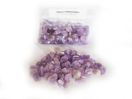 Amethyst Tumbled Stones - Small (18-25mm) - 1LB