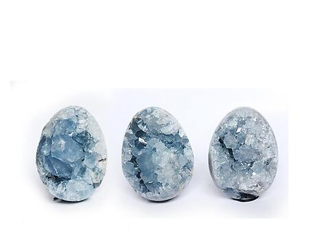 Celestite Eggs (55mm) - AAA Quality