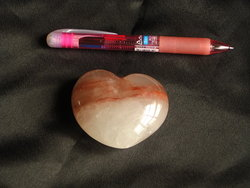 Fire Quartz Large Decorative Hearts