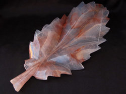 Fire Quartz Leaves - Large 2pcs