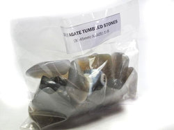 Agate Grey Tumbled Stones Large (over 30mm) - 33LBS