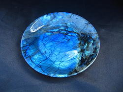 Labradorite Plates Simple Base - 6 inch - 10pcs