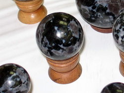 Indigo Gabbro Spheres 55mm