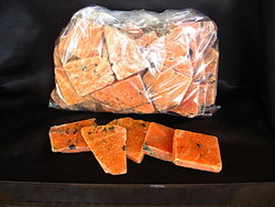 Orange Calcite Polished One Face 22LB (4 Bags)