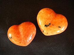 Orange Calcite Small Jewelry Heart