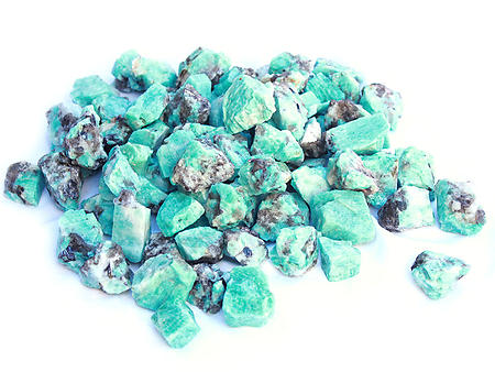 Amazonite Rough - Gem Decor Rough (5-30g) 5Kg Bag (11LBS and UP)