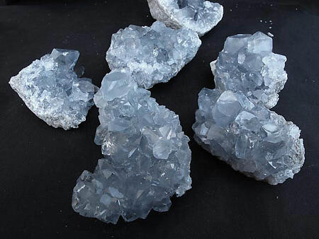 Celestite Druze (100-200g pieces) - AAA Quality