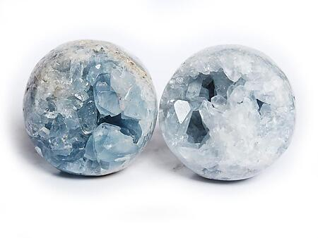 65 mm Celestite Spheres