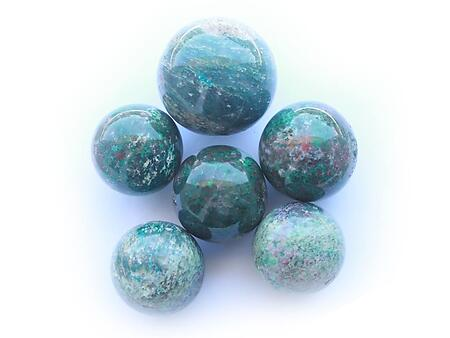 Chrysocolla Spheres (55mm)
