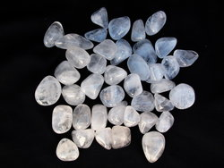 Crystal Quartz Tumbled Stones - Small (18-25mm) - A - 1LB