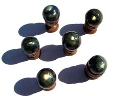 Labradorite Spheres (45 mm)