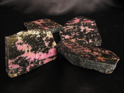 Rhodonite Polished One Face 11LB