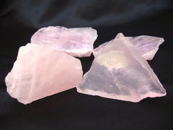 Rose Quartz Polished One Face 11lb (2 Bags)