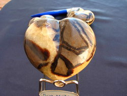 Septarian Large Decorative Heart